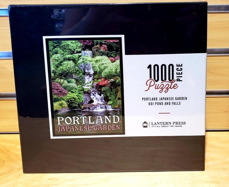 1000 Pc Portland, Oregon - Japanese Garden Koi Pond and Falls