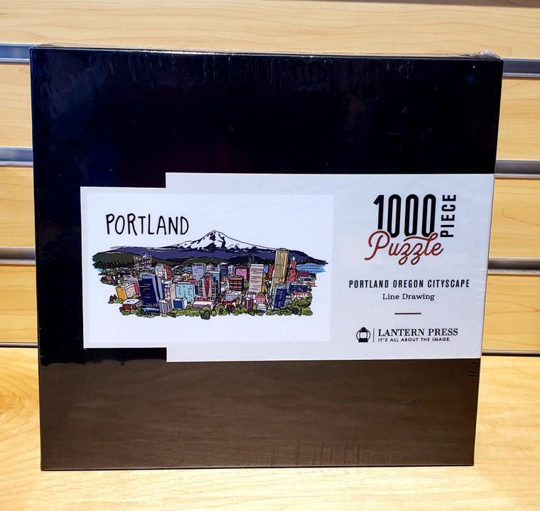 1000 Pc Portland, Oregon - Cityscape Line Drawing