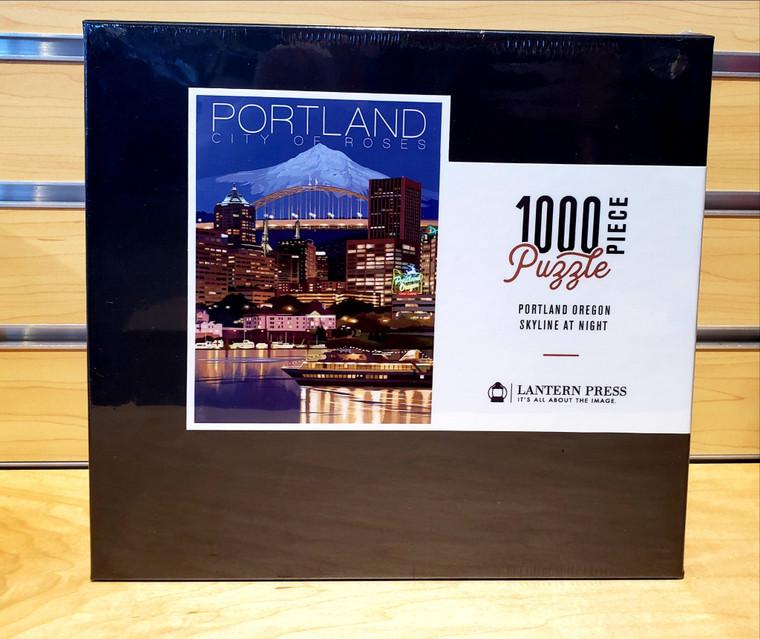 1000 Pc Portland, Oregon - Skyline at Night