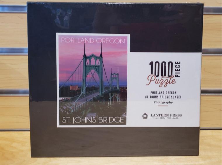 1000 Pc Portland, Oregon - St. Johns Bridge Sunset Photograph