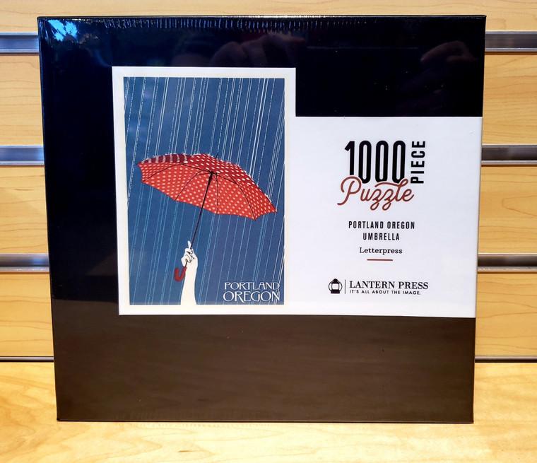 1000 Pc Portland, Oregon - Umbrella Letterpress