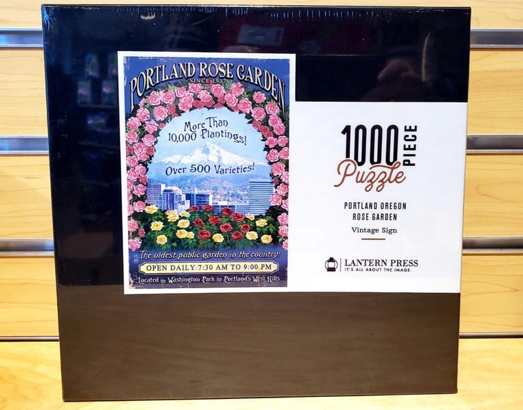 1000 Pc Portland, Oregon - Rose Garden Vintage Sign
