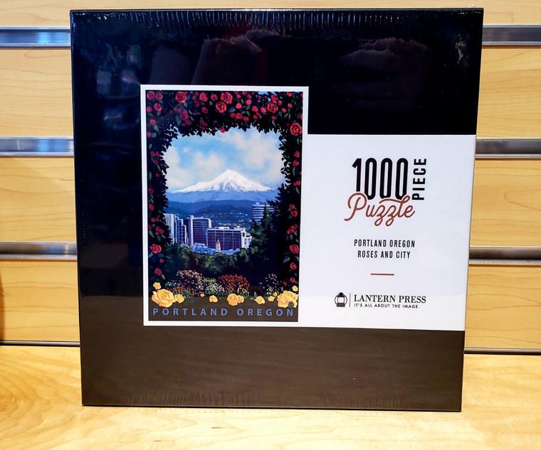 1000 Pc Portland, Oregon - Roses and City