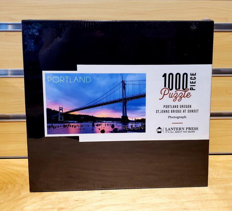1000 Pc Portland, Oregon - St. Johns Bridge at Sunset