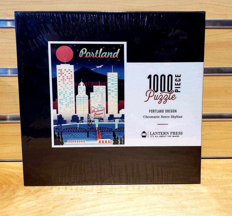 1000 Pc Portland, Oregon - Chromatic Retro Skyline