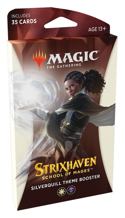 Strixhaven Theme Booster Pack Silverquill (White/Black)