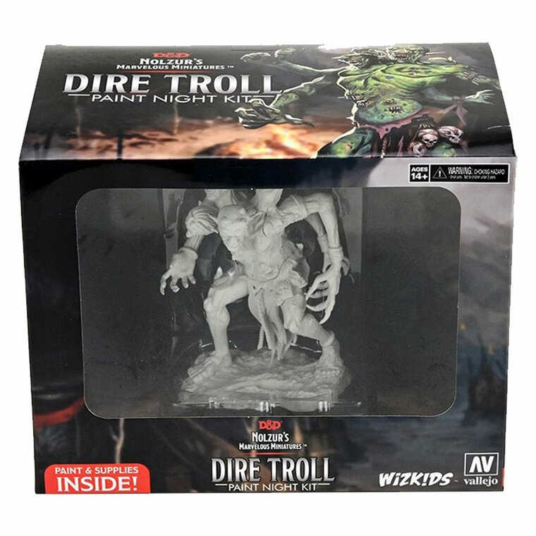 Unpainted NPC Dire Troll Paint Night Kit 90291