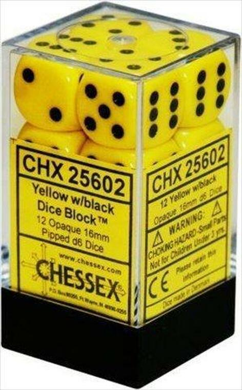 CHX D6 16mm 12x Opaque Yellow w/ Black 25602