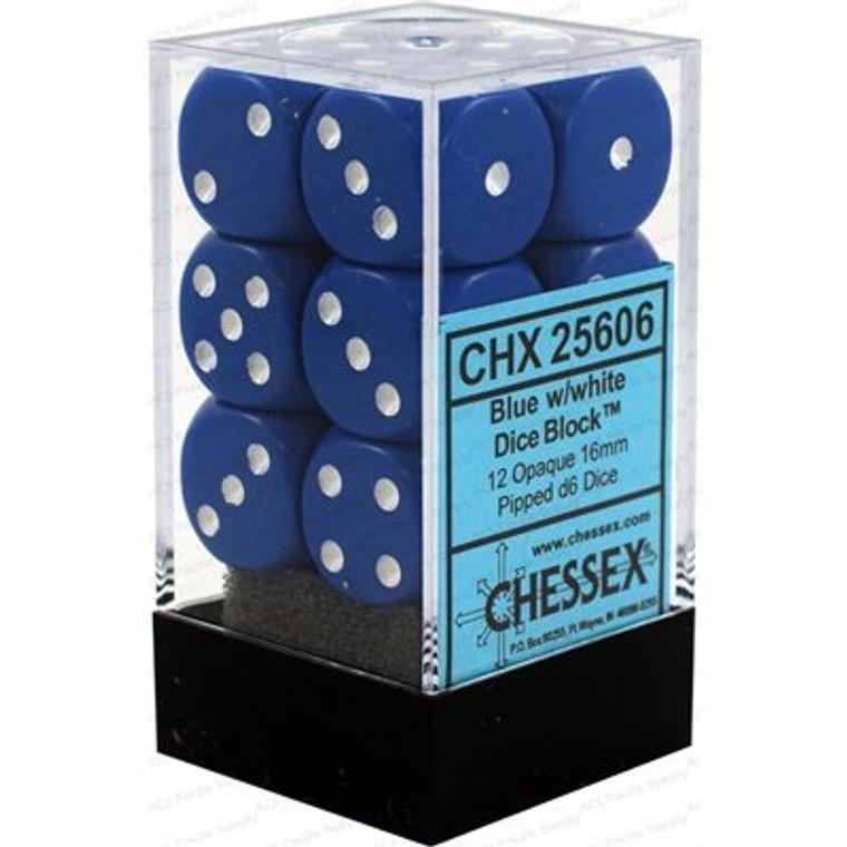 CHX D6 16mm 12x Opaque Blue w/ White 25606