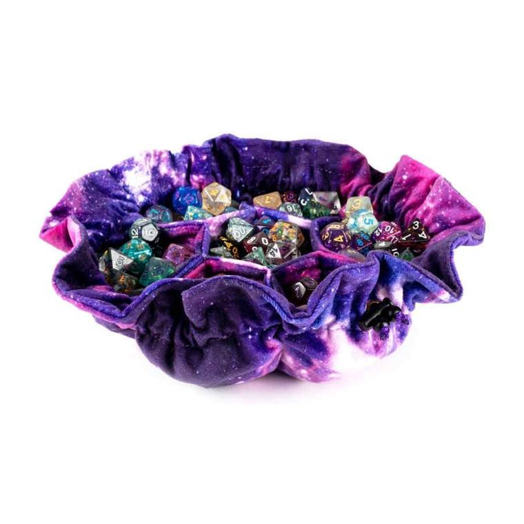 MDG Velvet Dice Bag w/ Pockets: Nebula