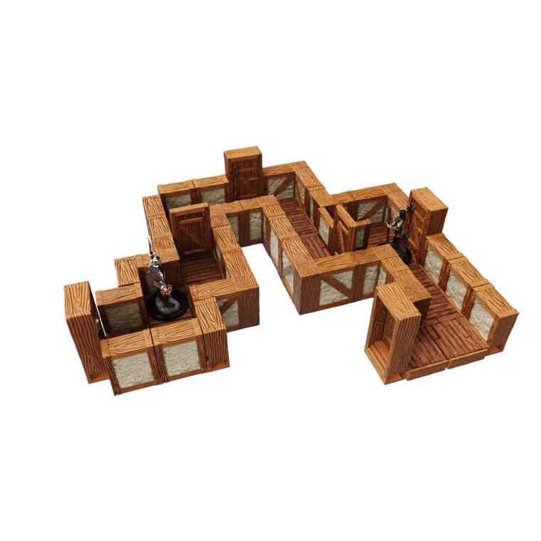 "WarLock Tiles Town & Village 1"" Straight Walls"