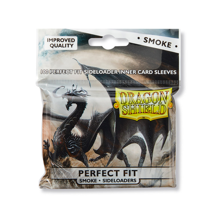 Dragon Shield Perfect Fit Sideload 100ct Smoke