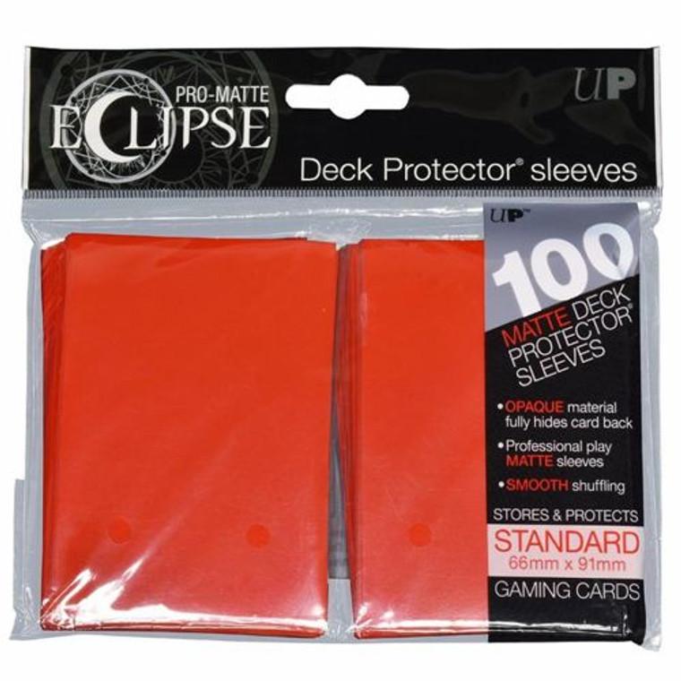 100ct Pro-Matte Red Eclipse Deck Protectors
