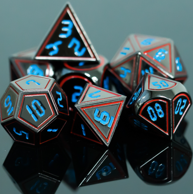 Frame Metal Dice Red and Blue