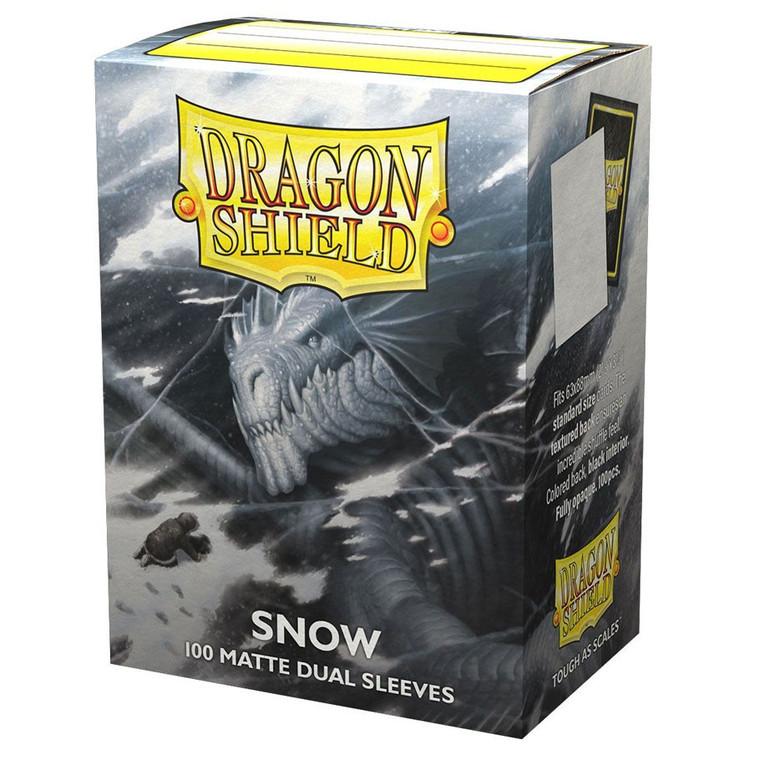 Dragon Shield Matte Dual 100ct Snow