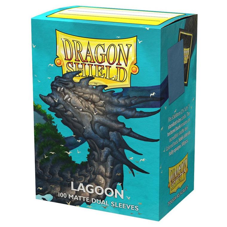 Dragon Shield Matte Dual 100ct Lagoon
