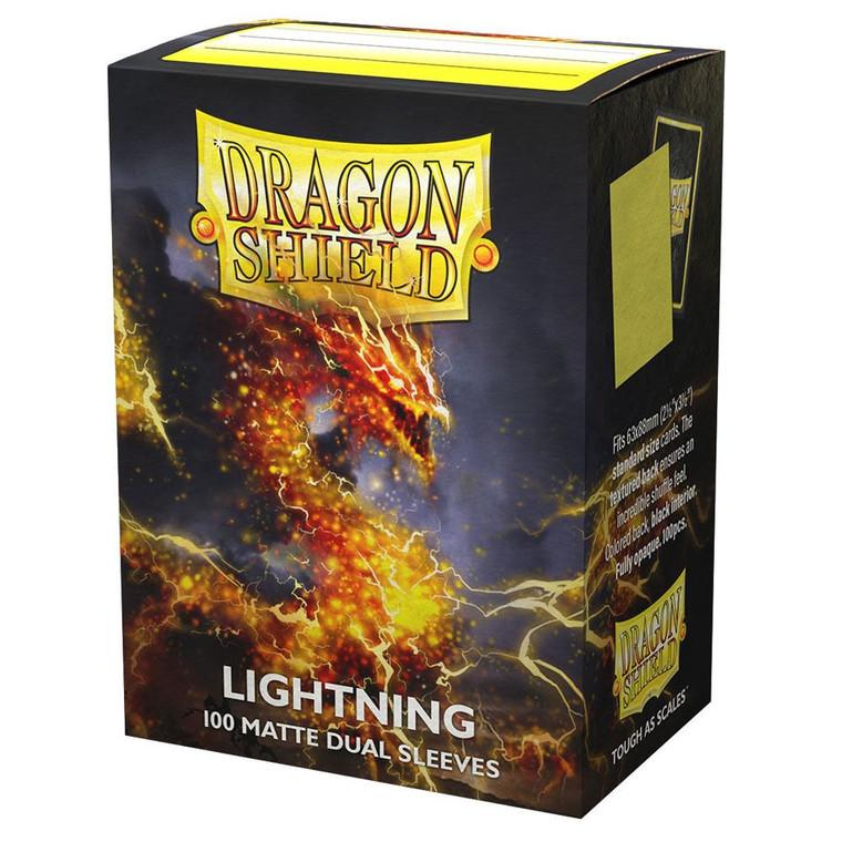 Dragon Shield Matte Dual 100ct Lightning