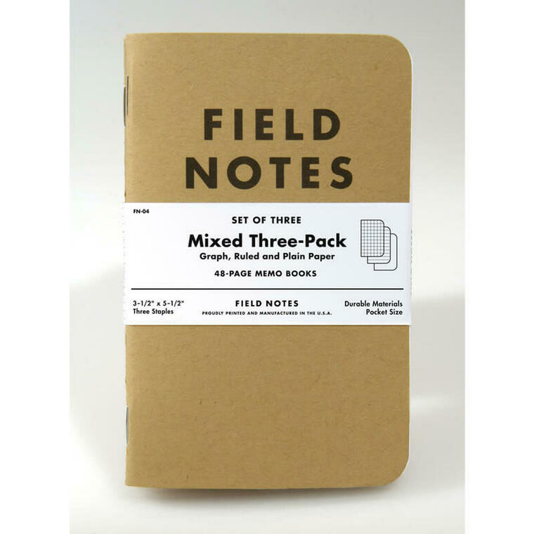 Mixed Memo Books 3-Pack Field Notes