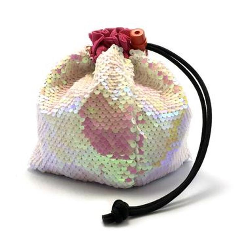 Dice Bag - Sequin Mermaid Pink/White