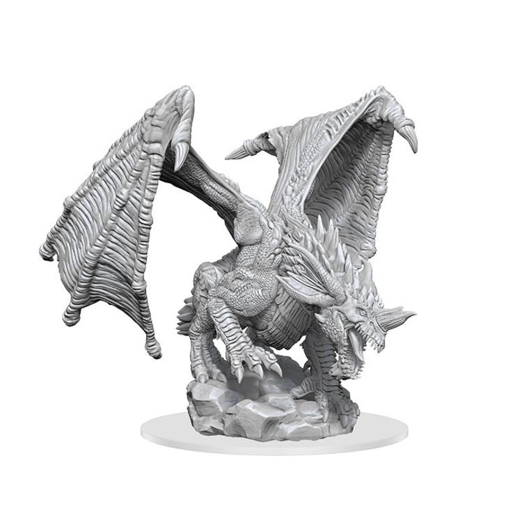 Unpainted NPC Dragon, Young Blue NM 90322