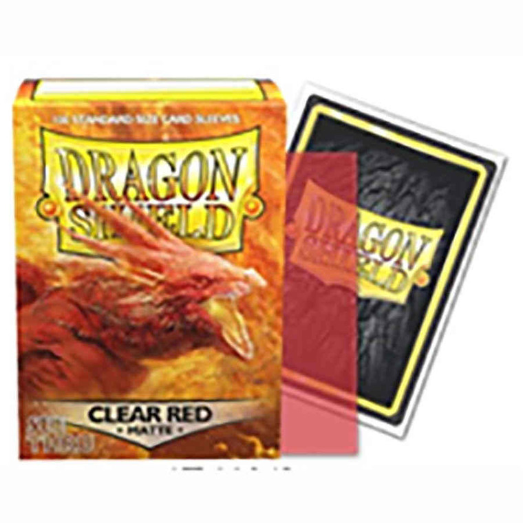 Dragon Shield Matte 100ct Clear Red