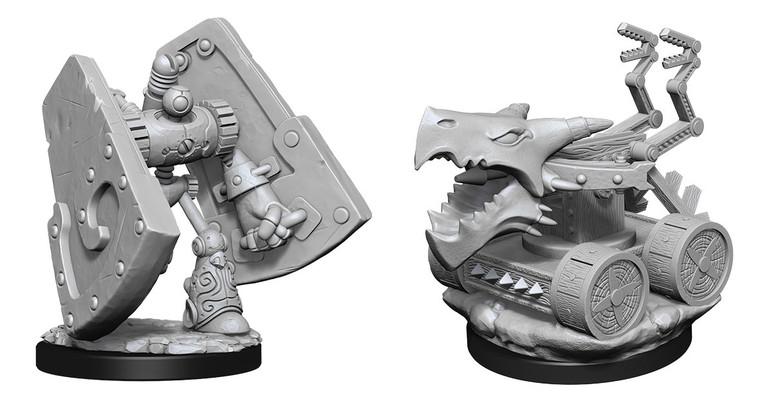 Unpainted NPC Stone Defender & Oaken Bolter NM 90314