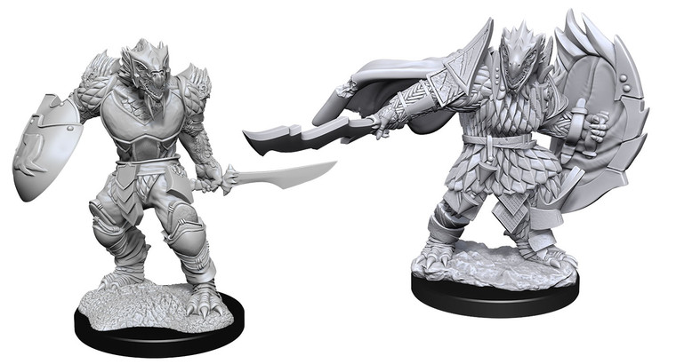 Unpainted PC Dragonborn Fighter Male NM 90303