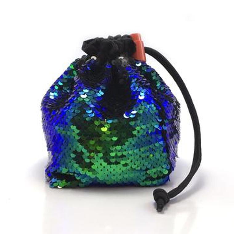 Dice Bag - Sequin Mermaid Green/Black