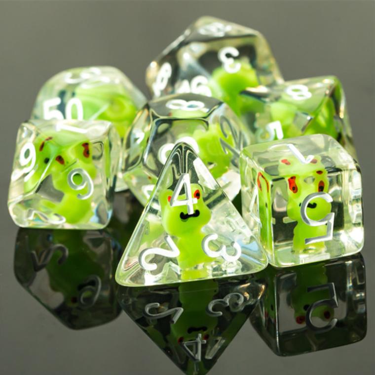 Frog Dice Poly RPG Set