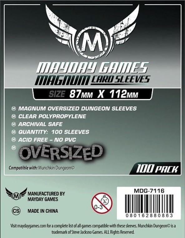 87mm x 112mm 100ct Magnum Oversized Dungeon Sleeves Mayday