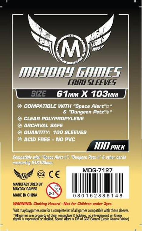 61mm x 103mm 100ct Sleeves Mayday