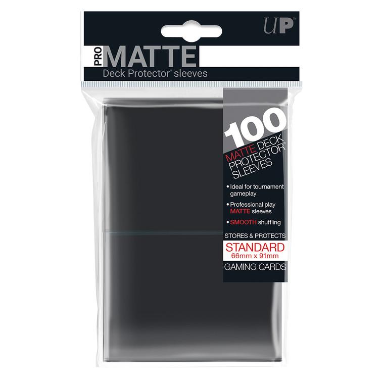100ct Pro-Matte Black Standard Deck Protectors