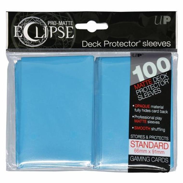 100ct Pro-Matte Light Blue Eclipse Deck Protectors