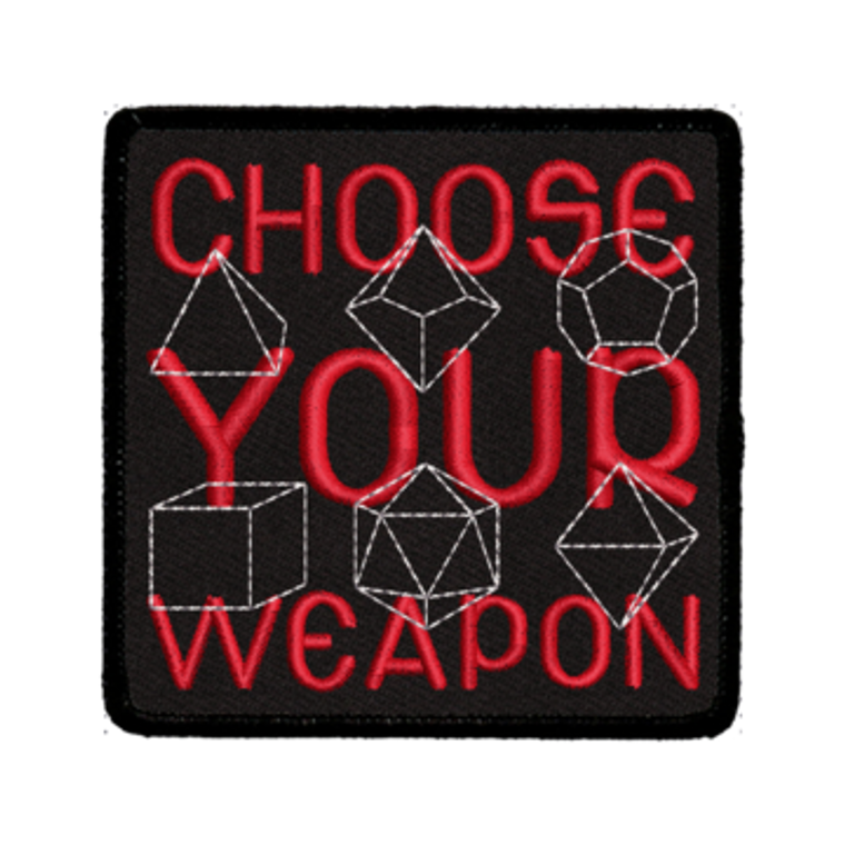 Iron-On Patch - Choose Your Weapon