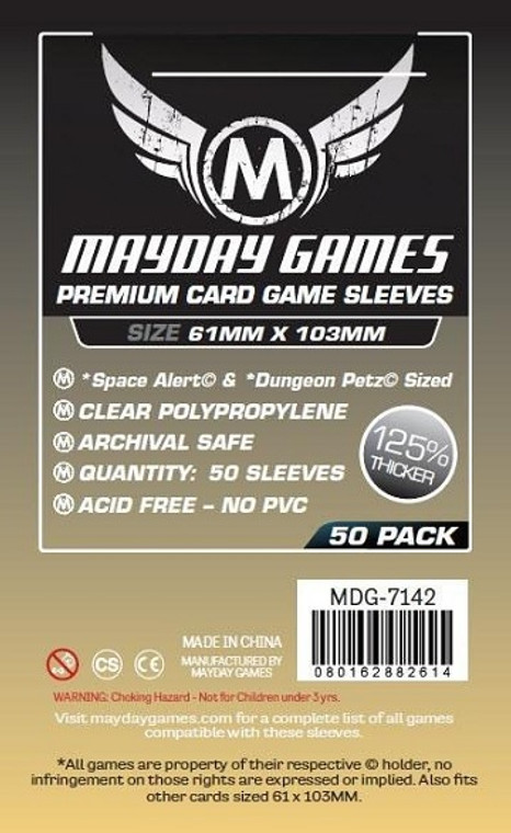 61mm x 103mm 50ct Premium Card Sleeves Mayday