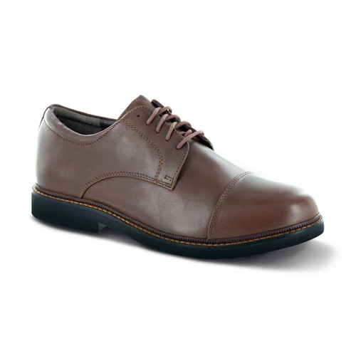 Apex Men's Lexington Cap Toe Oxford Shoes - Brown