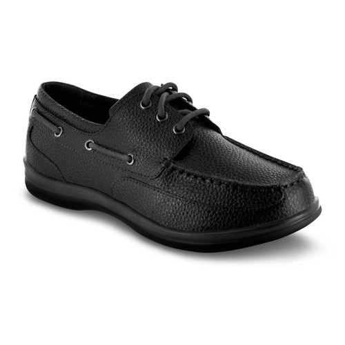 Apex Classic Lace Boat Shoe (A1000M) - Black
