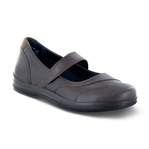 A335W | Women's Petals Lisa | Dark Brown | Apex shoes & flats