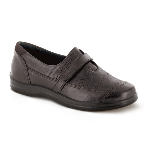A705W | Women's Petals Regina | Dark Brown | Apex shoes & flats