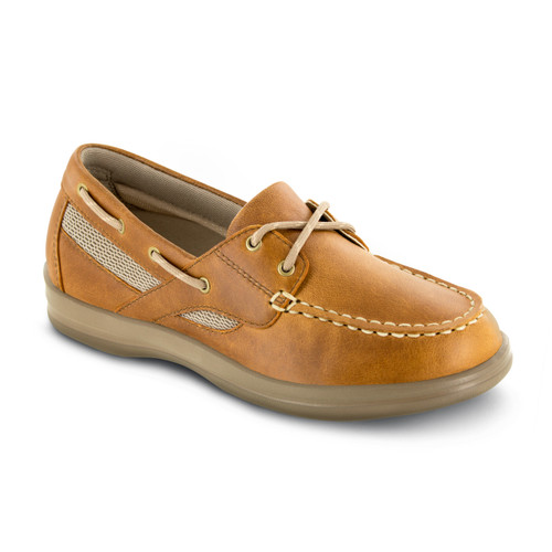 A2200W | Women's Petals Sydney Boat Shoe | Camel (Light Brown) | Apex shoes