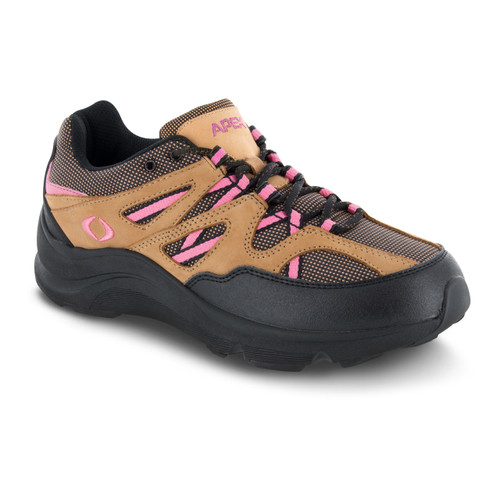 V752W | Women's Sierra Trail Runner | Brown with Pink accents | Apex shoes & boots