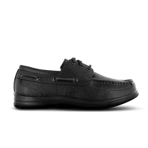 Apex Classic Lace Boat Shoe (A1000M) - Black