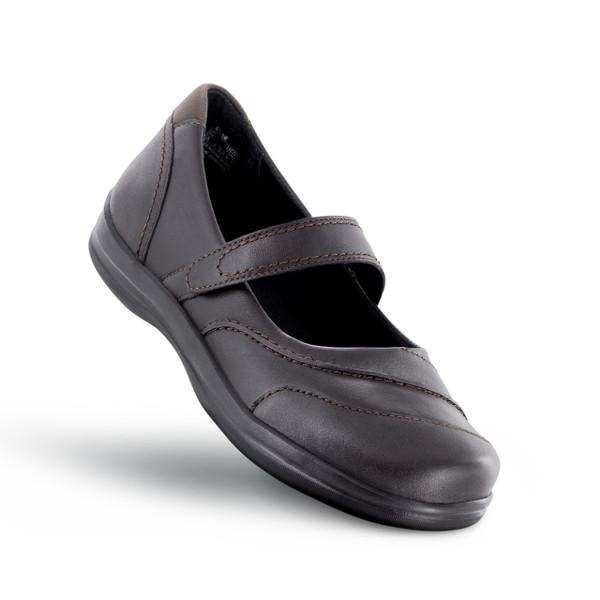 A335W | Women's Petals Lisa | Dark Brown | Apex shoes & flats