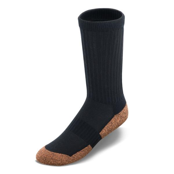S300 | Copper Cloud crew high length socks | Black | Apex socks