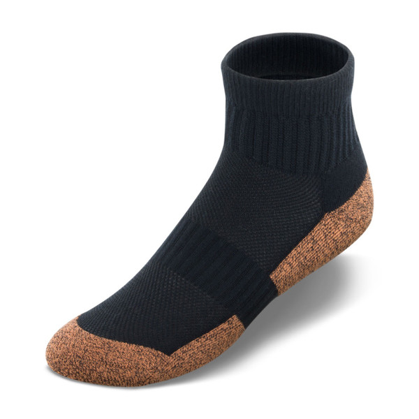 Copper Cloud ankle-length socks in black.