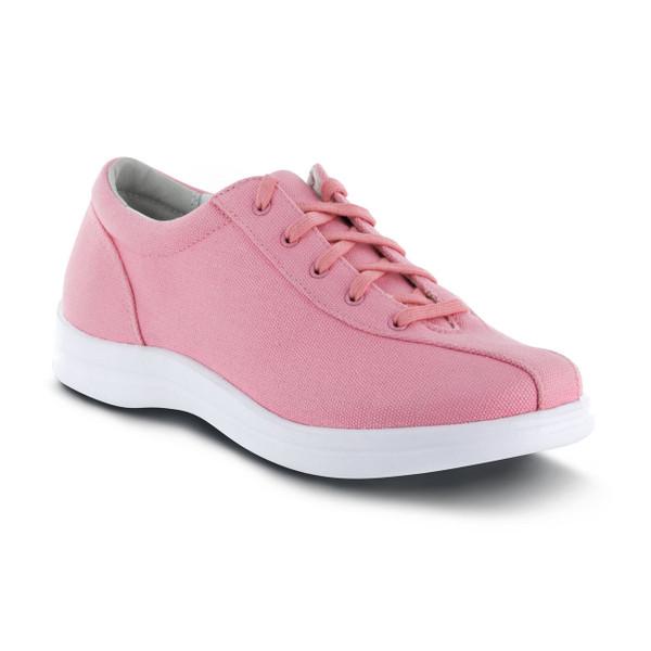 A402W | Women's Ellen Canvas | Pink | Apex Shoes