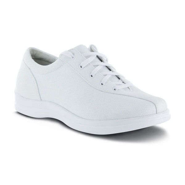 A403W | Women's Ellen Canvas | White | Apex Shoes