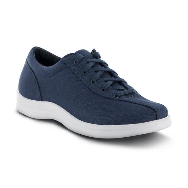 A401W   Women's Ellen Canvas   Navy   Apex Shoes