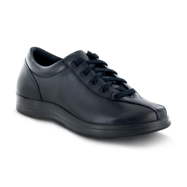 A400W   Women's Liv Leather Lace up   Black   Apex Shoes