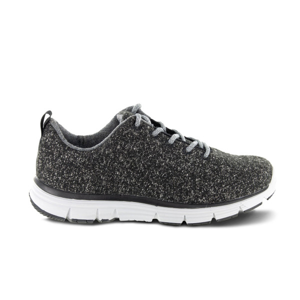 A8100W | Women's Natural Fitlite Wool knit | Dark Grey | Apex Shoes
